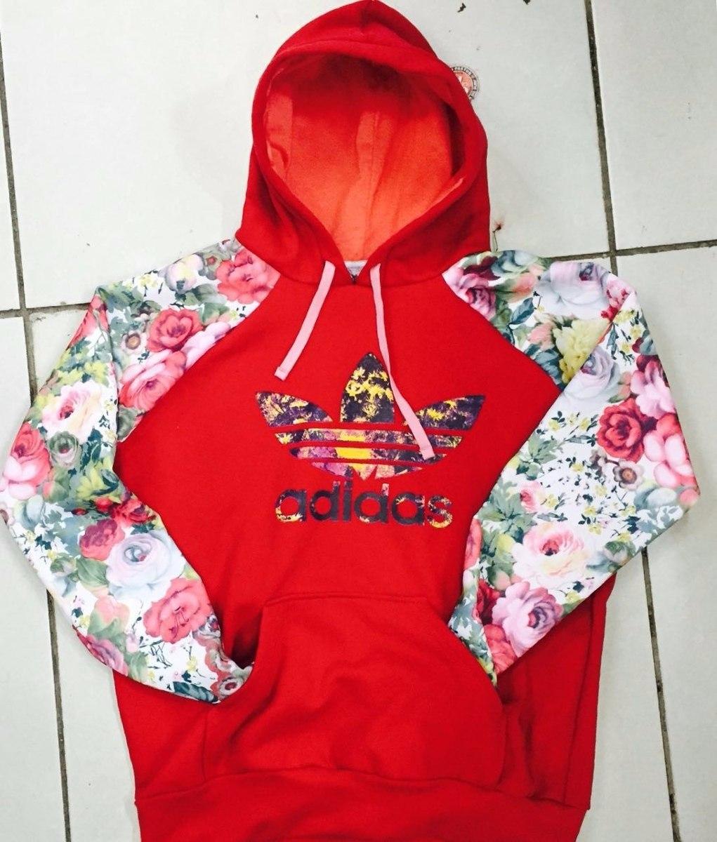 bed7143295d Kit 3 Blusa De Frio Casaco Moletom adidas Floral Fechada - R  169