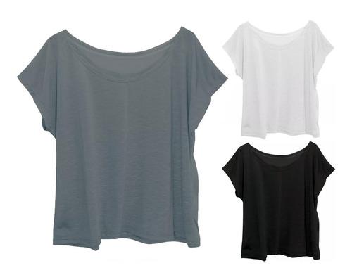 kit 3 blusas blusinhas t-shirt camisetas feminina plus size