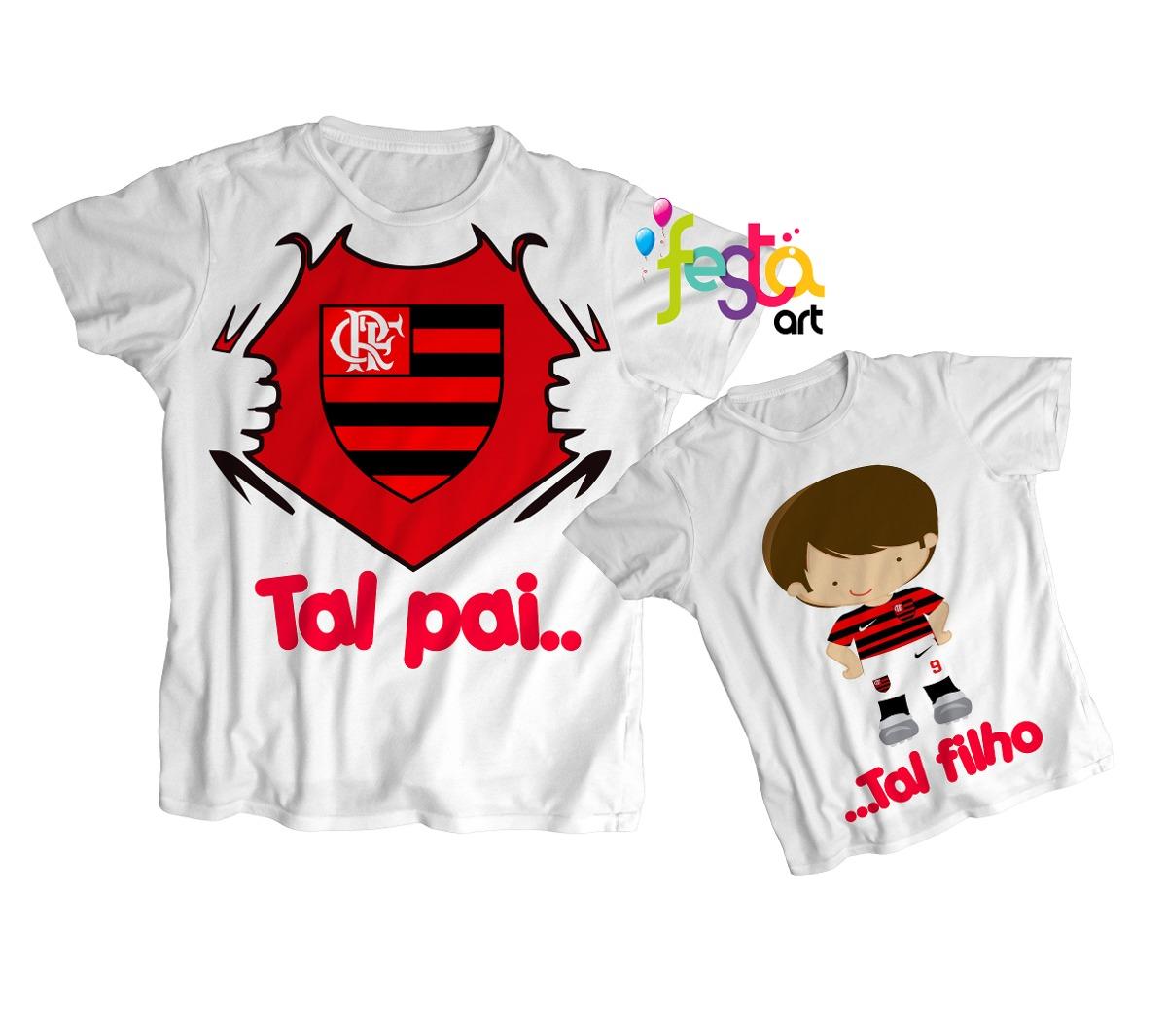 4f8ad403b6 Kit 3 Blusas Tal Pai Tal Filho Flamengo Ou Qualquer Time - R  89