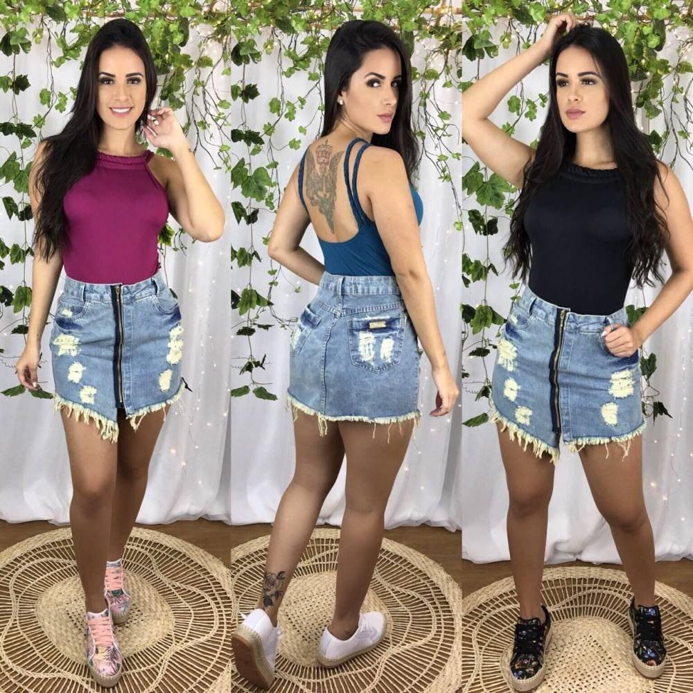 70ead5eacdc2 Kit 3 Body Feminino Alça Trança Lanç Moda Verão 2019 - R$ 135,00 em ...