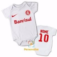 43d17a889e Kit 3 Body Infantil Personalizado Bebê Time Inter Futebol - R  120 ...