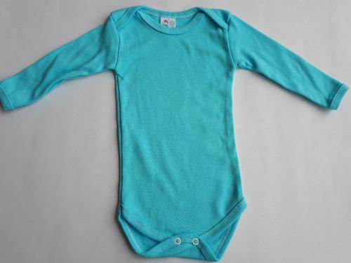 kit 3 body manga longa bebe suedine 100% algodão