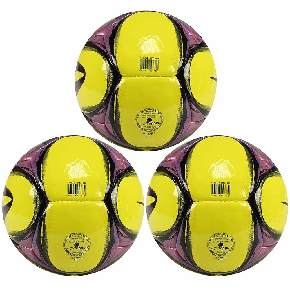 kit 3 bolas campo oficial da topper futebol super oferta. Carregando zoom. f79ab342e3947