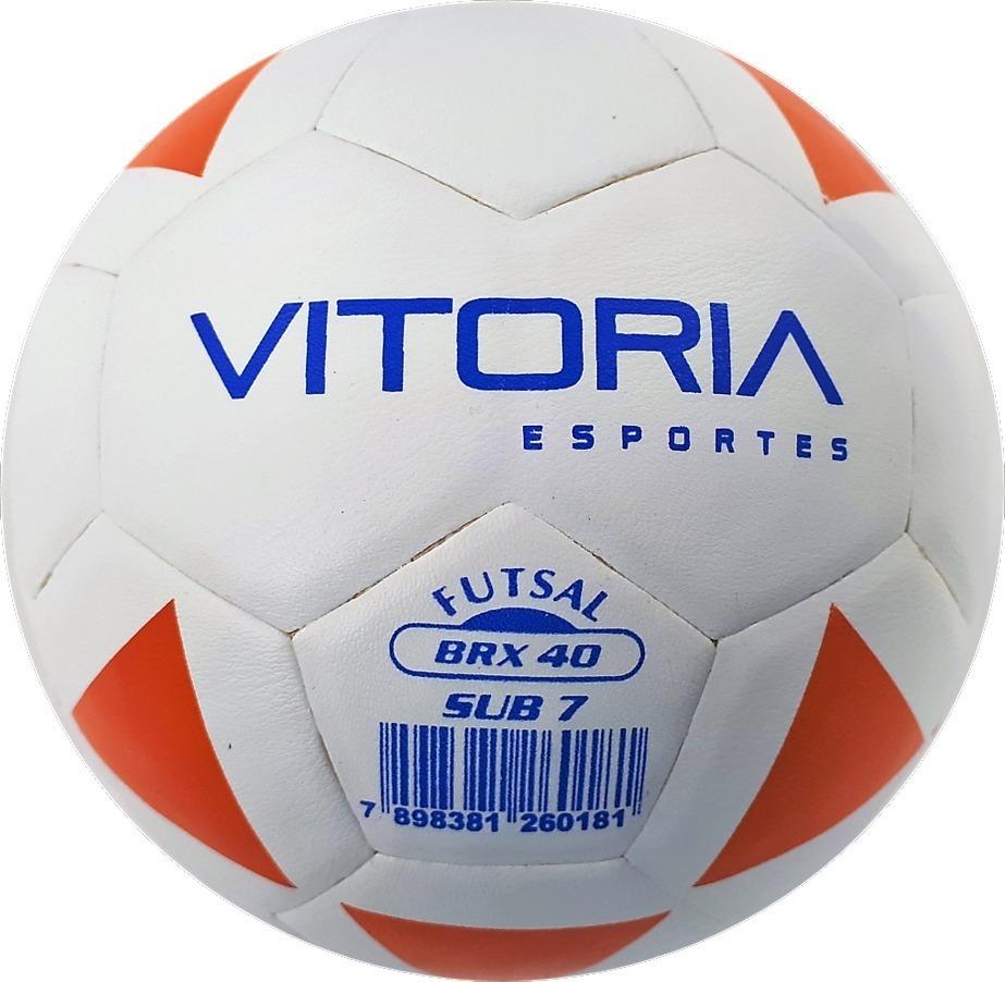 eff7b1db7a Kit 3 Bolas Futsal (3 A 6 Anos) Vitoria Brx Max 40 Sub 7 - R  149
