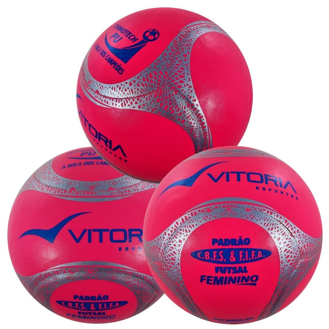 a7d22b559a kit 3 bolas futsal vitoria oficial termotec feminina. Carregando zoom.