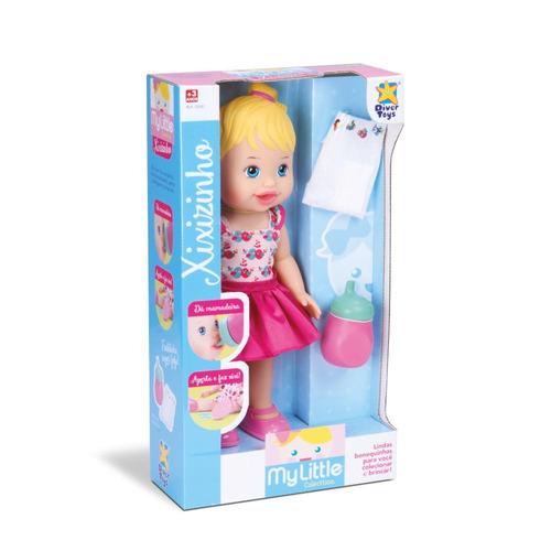 kit 3 bonecas - hora do banho, salão de beleza e faz xixi