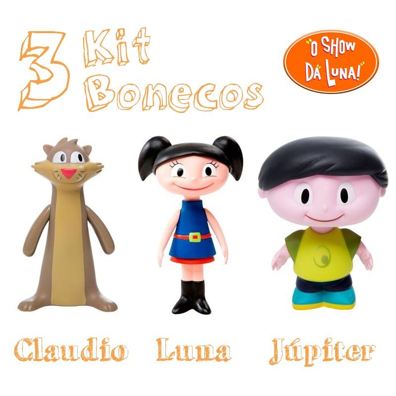 Kit 3 bonecos show da luna brinquedo luna j piter cl udio for Kit da 3 bay
