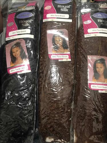 Kit 3 Cabelos Afro Supr 234 Me Royal Silk Twist Braid Crochet