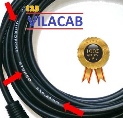 kit 3 cabos microfone/dmx - xlr/canon balanceado 10 metros