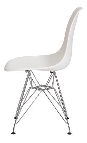 kit 3 cadeiras eiffel eames base cromada varias cores