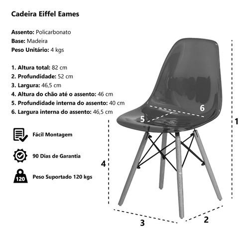 kit 3 cadeiras eiffel eames dsw base madeira várias cores