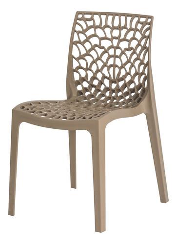 kit 3 cadeiras gruvyer empilhável inmetro várias cores