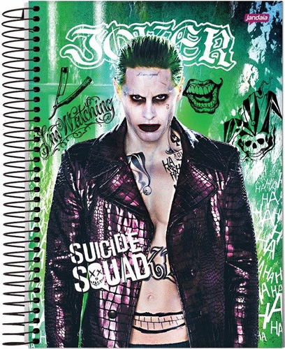kit 3 cadernos esquadrao suicida 1 materia 96 folhas