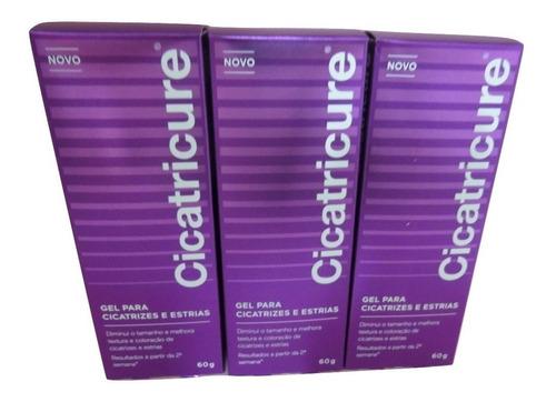 kit 3 caixas de cicatricure gel 60g
