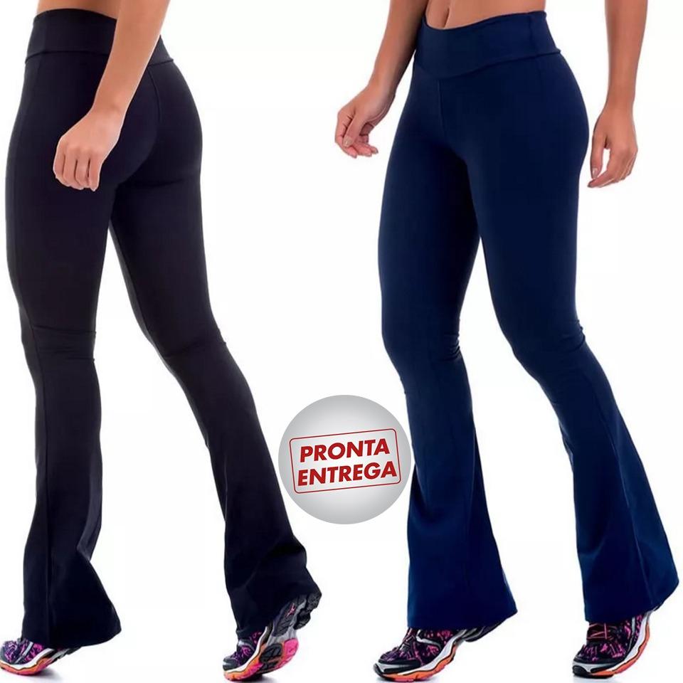 46b5de38c kit 3 calça bailarina flare fitness academia uniforme suplex. Carregando  zoom.