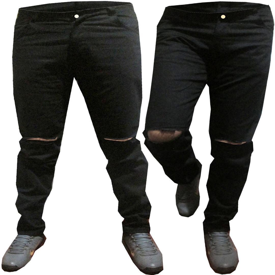 05e96b614f kit 3 calça jeans e sarja masculina premium colorida rasgada. Carregando  zoom.