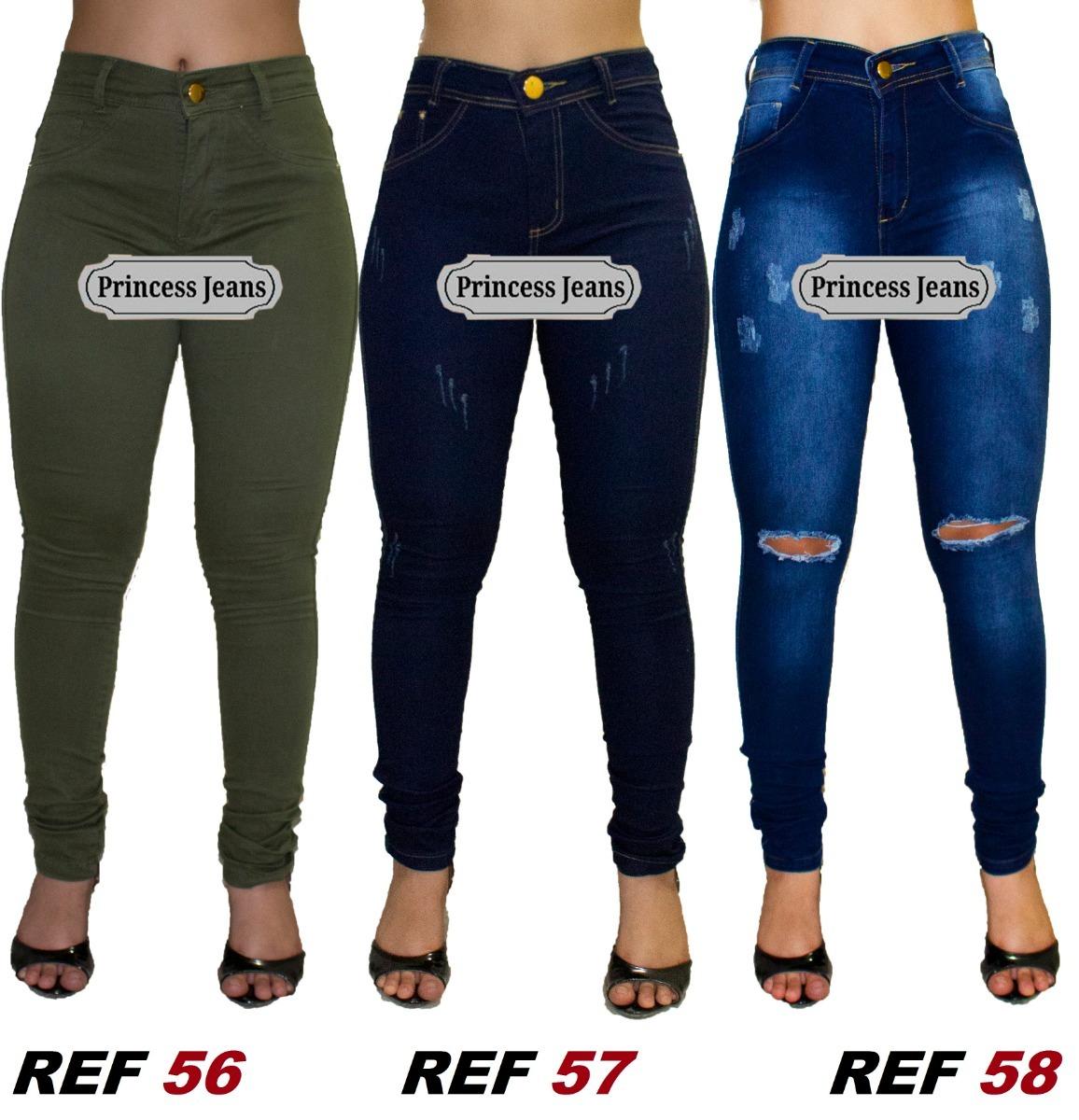 9e6e30093 kit 3 calça jeans feminina, cintura alta, lycra, hot pants. Carregando zoom.