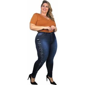 Kit 3 Calça Jeans Feminina Plus Size  Tamanhos Grande