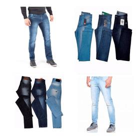 Kit 3 Calça Jeans Masculina De Marca Slim Skinny Casual Top