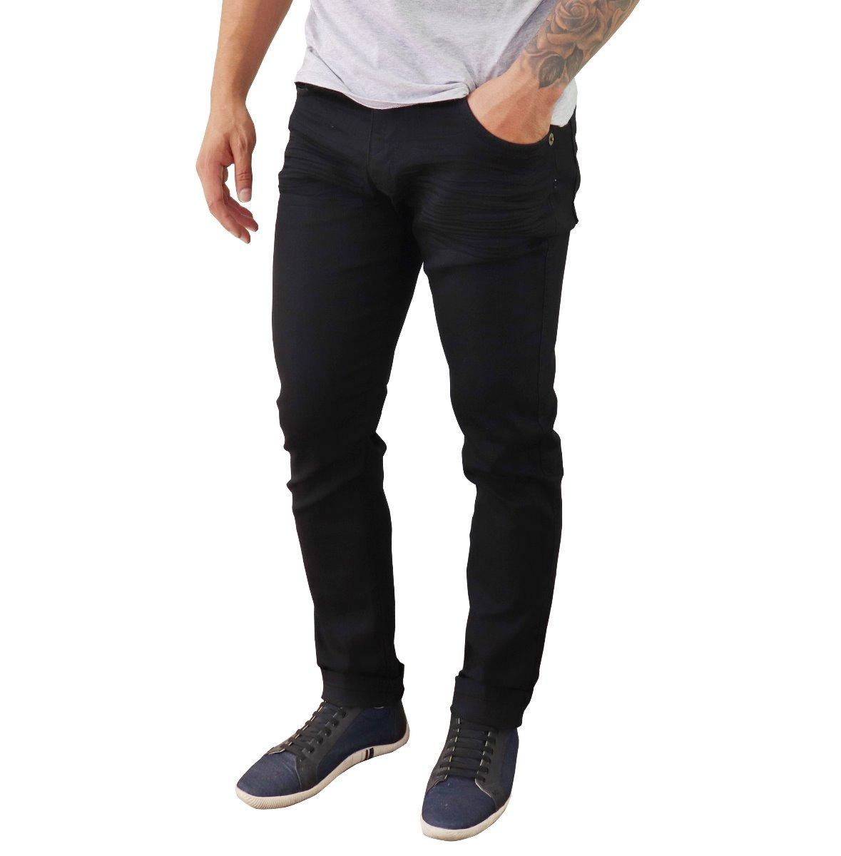 f5e260f8c kit 3 calça jeans sarja masculina slim skinny com lycra. Carregando zoom.