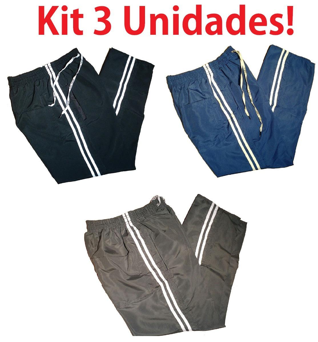 986d05fb0 kit 3 calça tactel 3 bolsos ajuste interno academia corrida. Carregando zoom .
