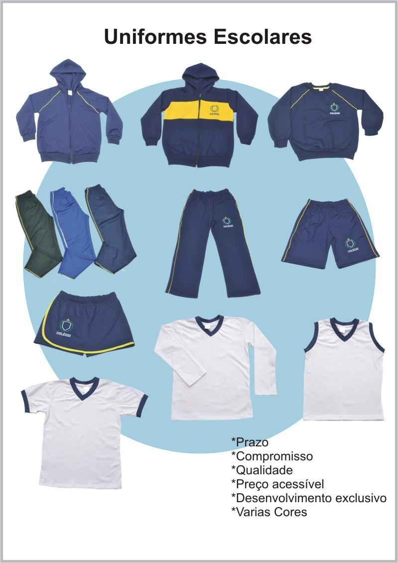 c2883da38b7ad1 Kit 3 Calça Uniforme Escolar