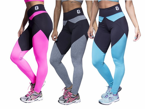 kit 3 calças fitness academia malhar mosaico suplex