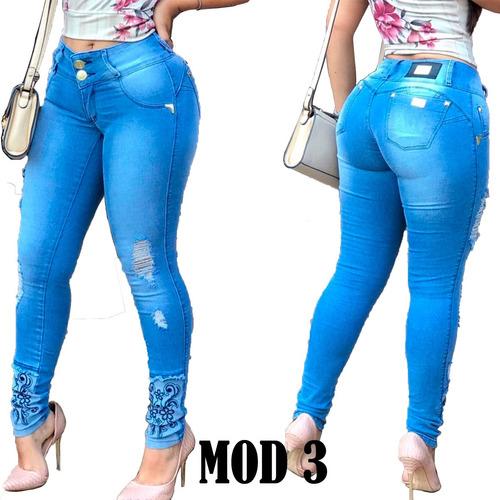 kit 3 calcas jeans com lycra modela bumbum pit frete grátis