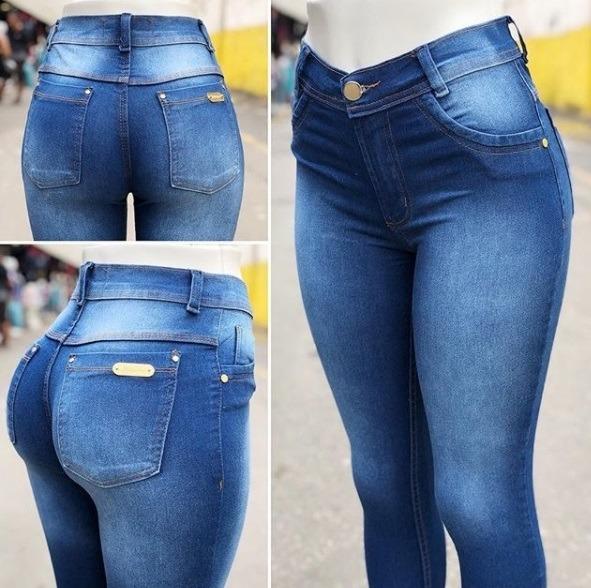 e4caa5dc7 Kit 3 Calças Jeans Feminina Cintura Alta Hot Pants C/ Lycra - R$ 159 ...