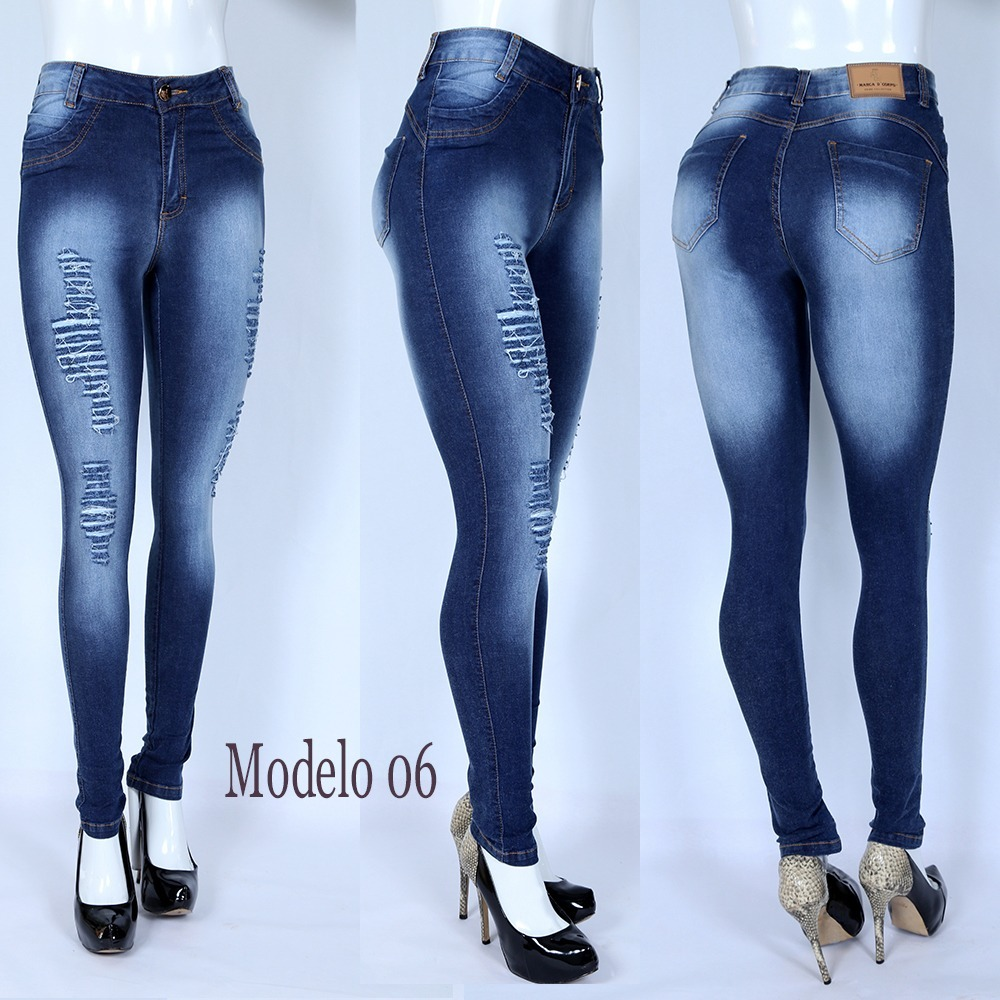 ac6c963c3 kit 3 calças jeans feminina cintura alta hot pants c/ lycra. Carregando  zoom.