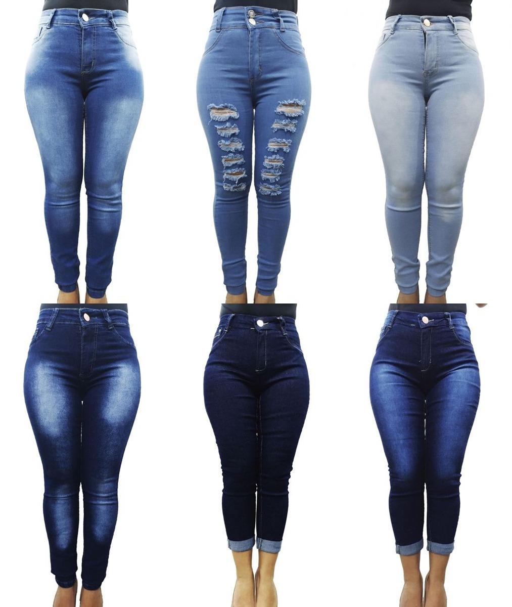 8a4bde953 kit 3 calças jeans feminina plus size cintura alta atacado c. Carregando  zoom.
