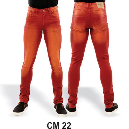kit 3 calças jeans masculina skinny lycra especial premium