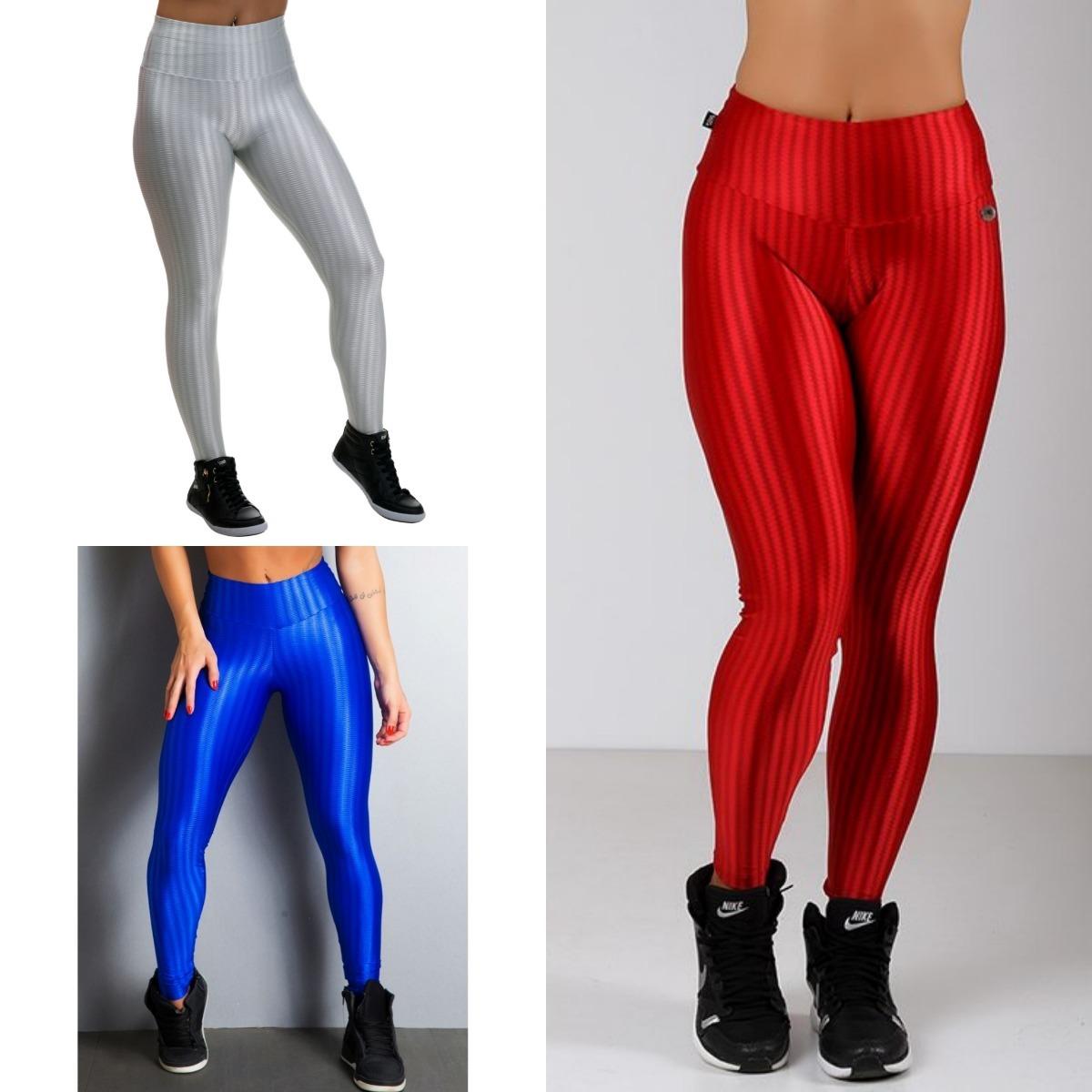 0b38bc028 kit 3 calças legging 3d cirrê + short 3d cirre + brinde. Carregando zoom.