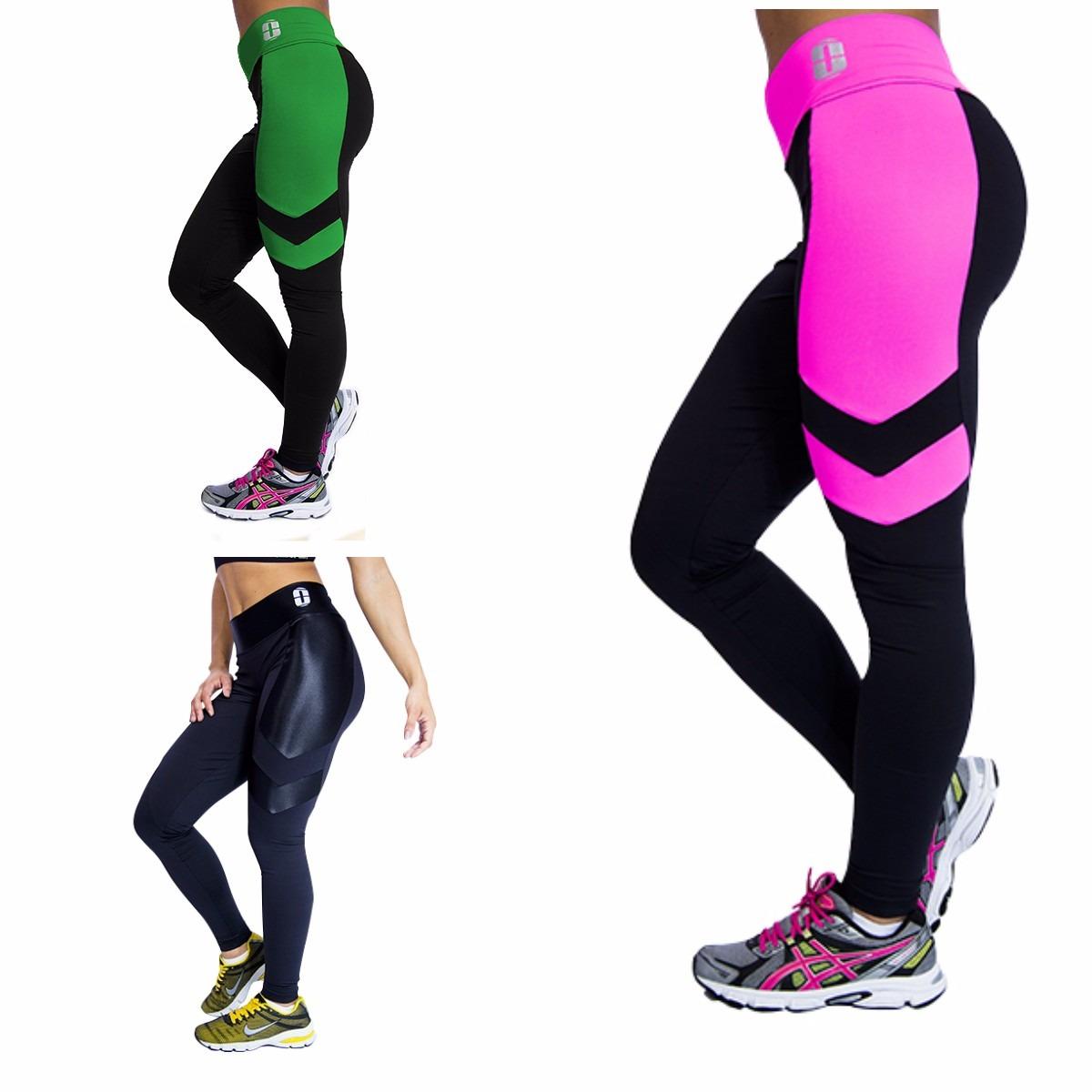 29427f0ec kit 3 calças legging fitness academia suplex cintura alta. Carregando zoom.