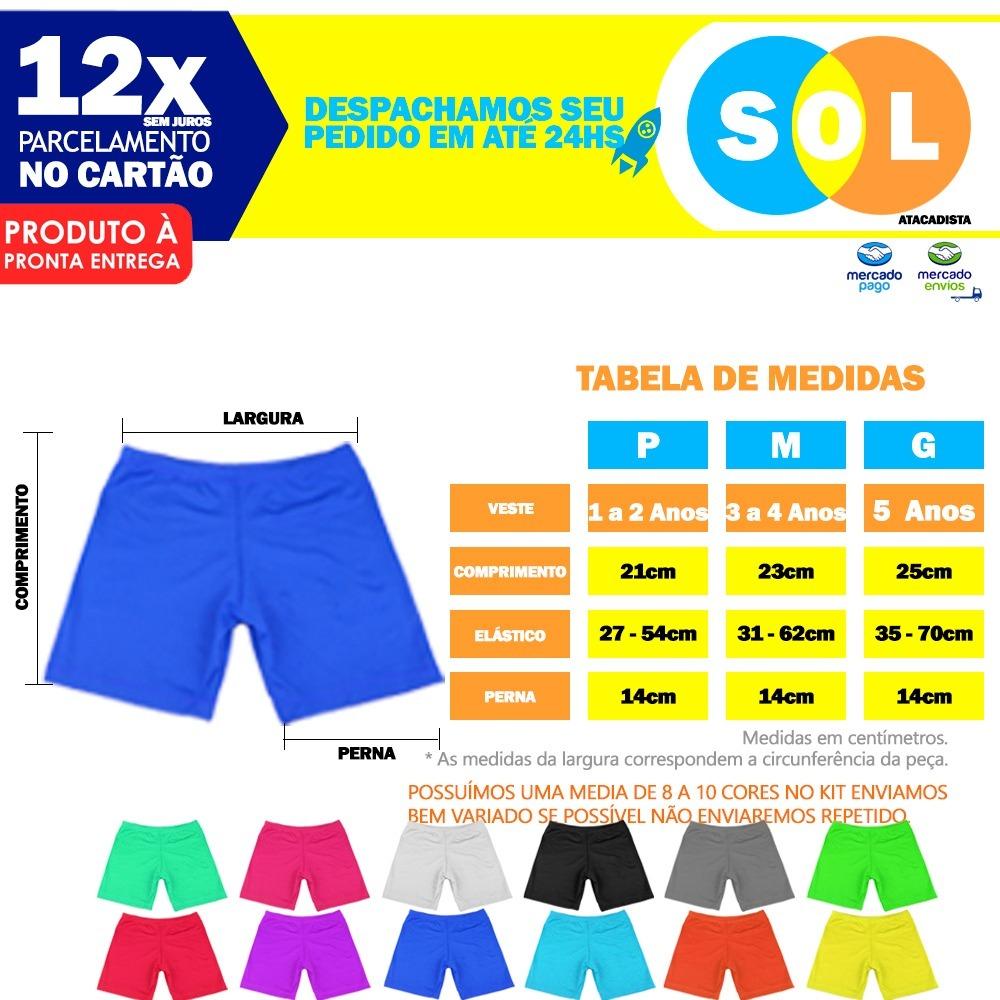 c97e9504e Kit 3 Calcinha Short Segunda Pele Infantil Microfibra Liso - R  27 ...