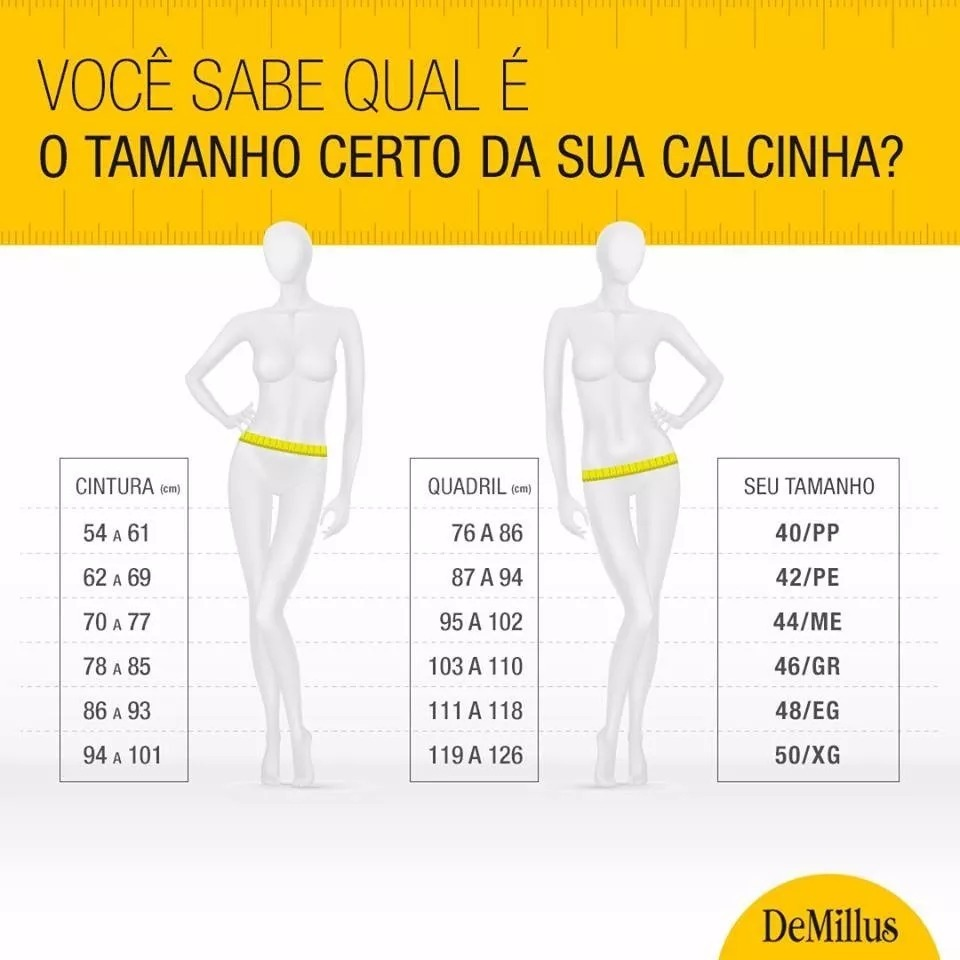 342de6bba Kit 3 Calcinha Short Ultraleve - Demillus - R  120