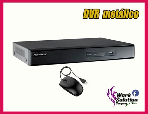 kit 3 camaras de seguridad hikvision full  hd disco 500gb co