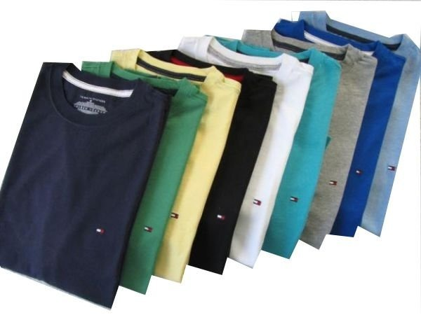 59a2c1335936 Kit 3 Camisa Basica Tommy Hilfiger Gola Redonda Fretegratis