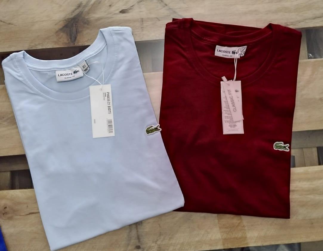 Kit 3 Camisa Camiseta Lacoste Masculina Estampada Promoção - R  147 ... 0ba8d19d4c