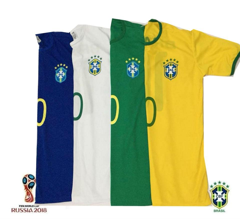 abfbd9672e4cc kit 3 camisa camiseta seleção brasileira copa 2018 elanca. Carregando zoom.