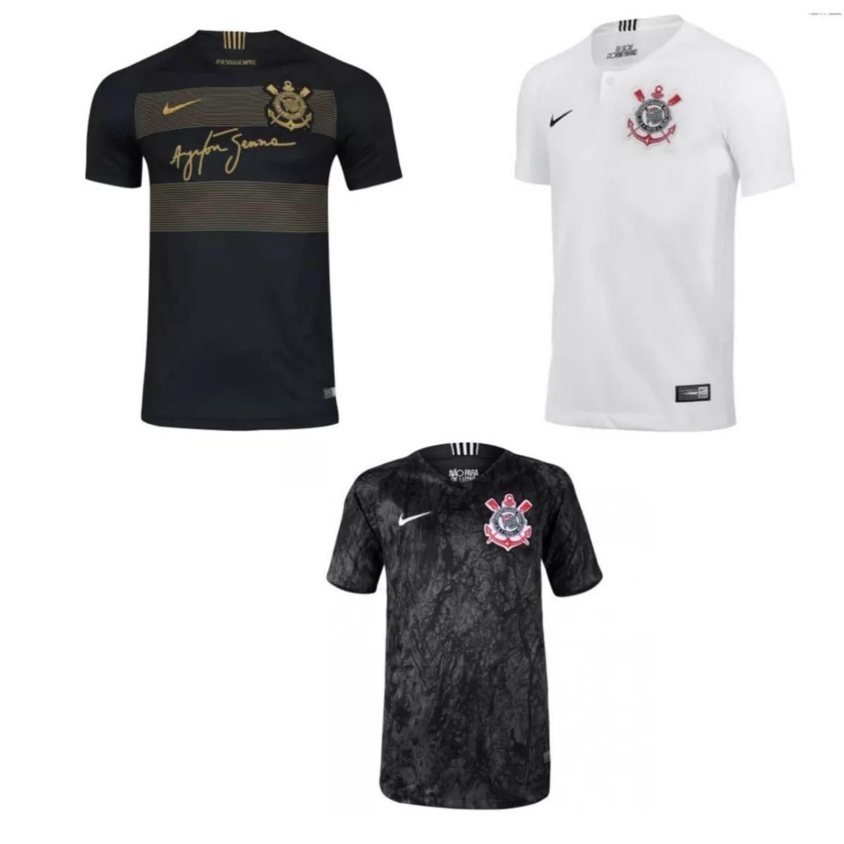 Kit 3 Camisa Corinthians Temporada 2019 Mega Oferta 40% Off - R  178 ... 778bf8e0f7f03