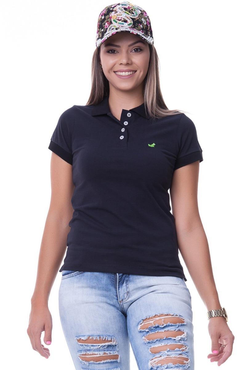 kit 3 camisa polo lisa feminina. Carregando zoom. 52e7c30f2eeec