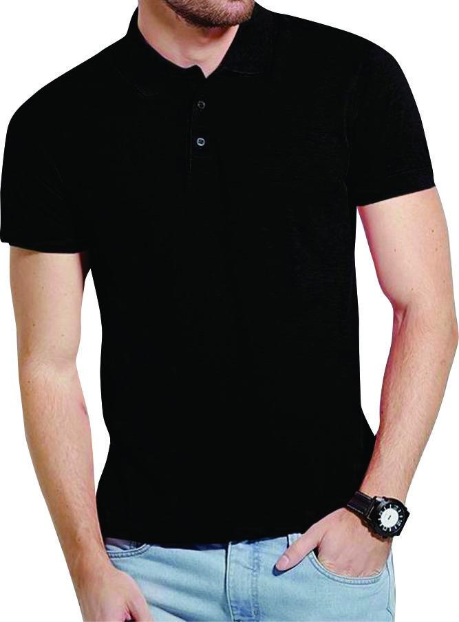 8034143a99 kit 3 camisa polo lisa masculina preto a2. Carregando zoom.