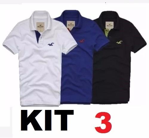 Kit 3 Camisa Polo Masculina  pronta Entrega  Atacado - R  57 5d90d7d5ff4e9