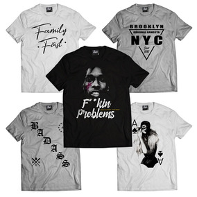 47837526a9 Kit 3 Camisa Swag Camisetas Hip Hop Masculina Rap