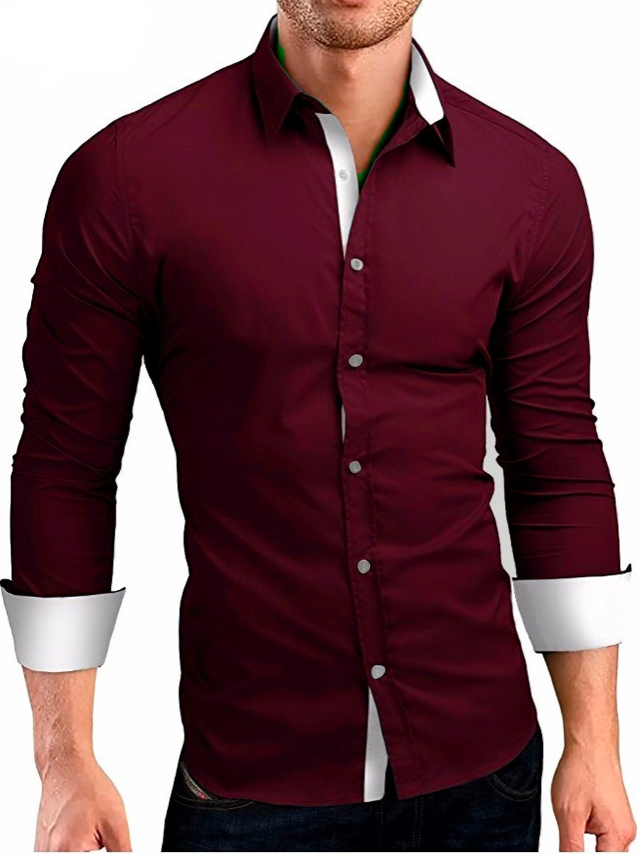3fa37cd1db kit 3 camisas camiseta social masculina slim tricoline lycra. Carregando  zoom.