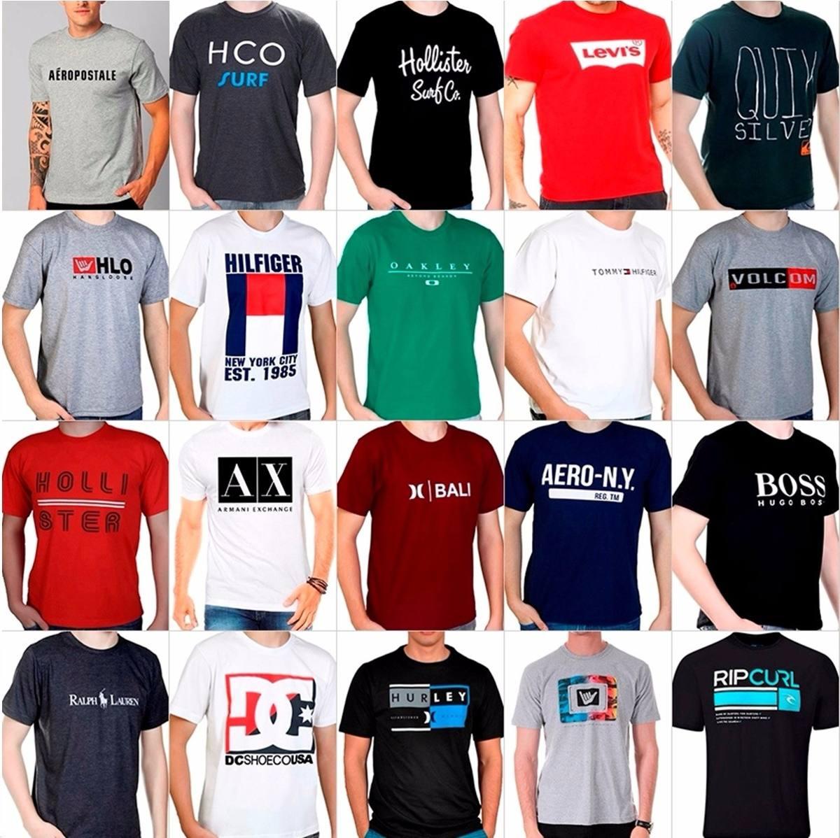 Kit 3 Camisas Camisetas Grife Lote Preço De Atacado - R  34 1b3ad4ec724