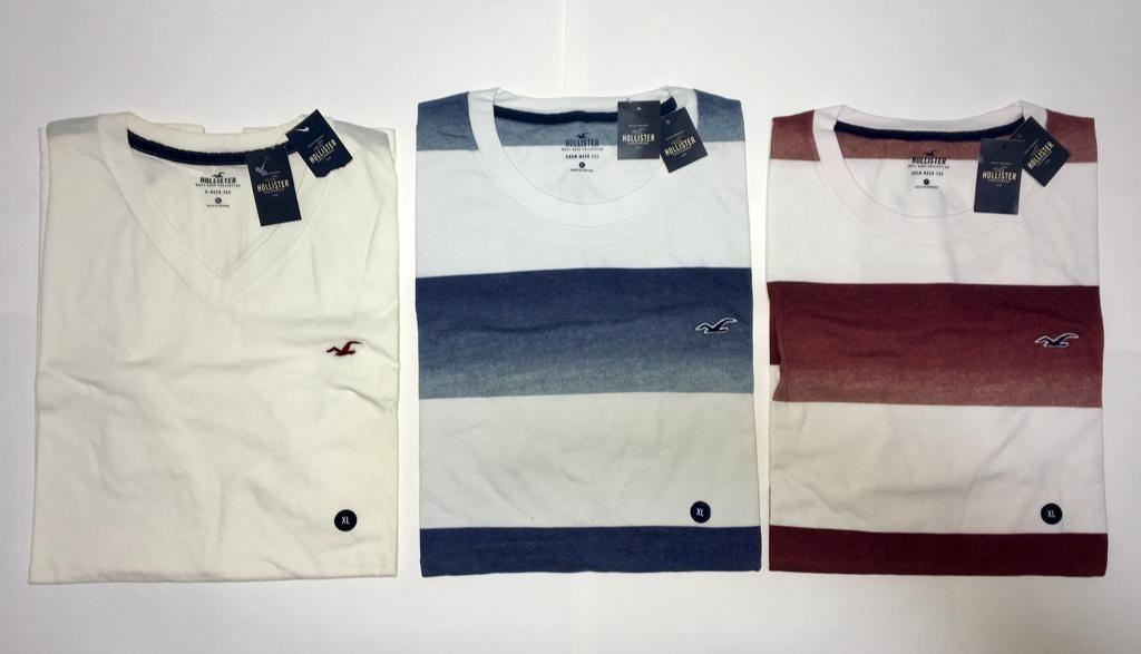 0c14c685aa Kit 3 Camisas Camisetas Hollister Abercrombie Original Eua - R  209 ...