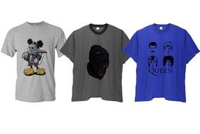 a816d0507f Kit 3 Camisas Camisetas Masculinas Plus Size Cores Até G6
