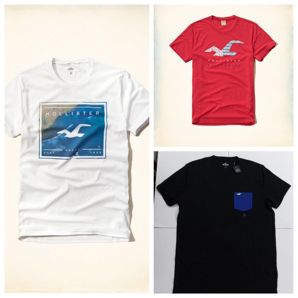 Kit 3 Camisas Camisetas Original Hollister Abercrombie - R  339 63e66419a0763